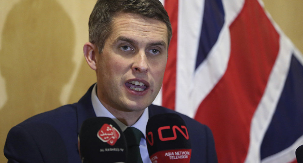 Gavin Williamson holds