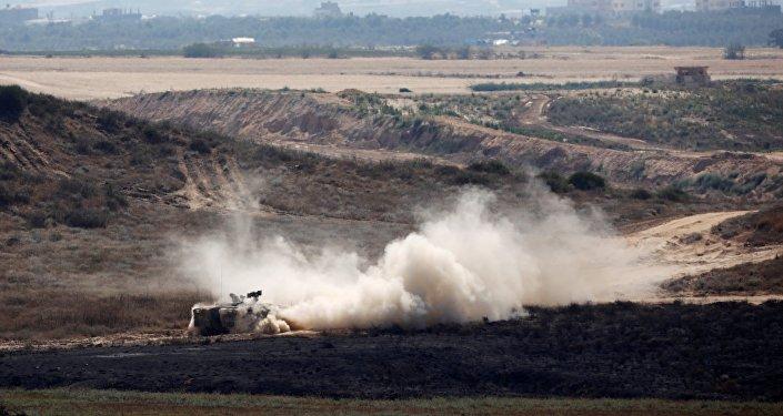 La frontière entre la bande de Gaza et Israël