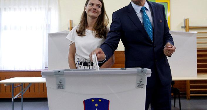 Janez Jansa et son épouse Urska