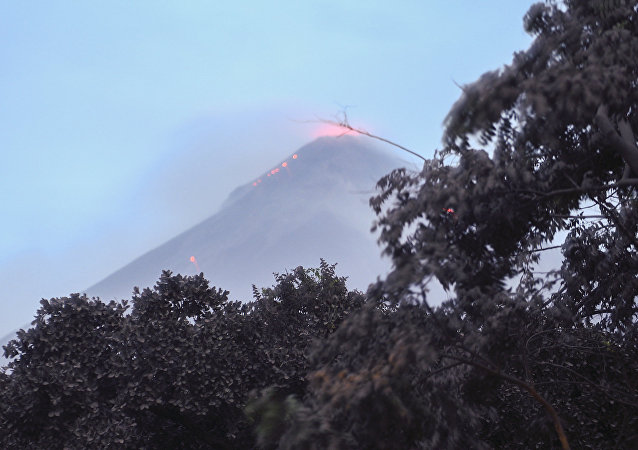 Volcan de Fuego en Guatemala