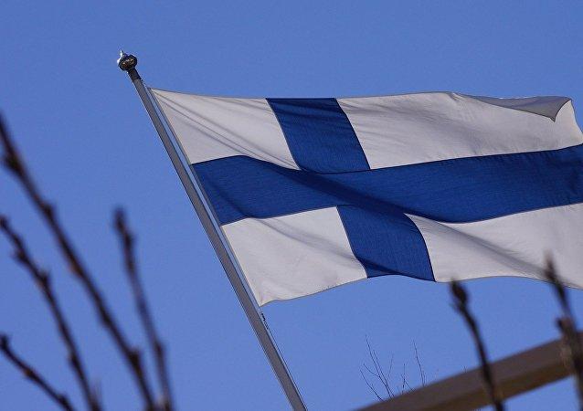 Un drapeau finlandais