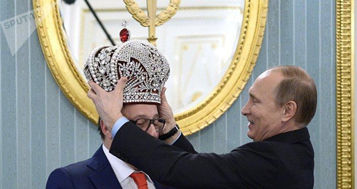 Vladimir Poutine et le comédien russe Guennadi Khazanov
