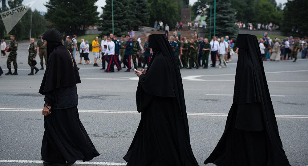 Des religieuses. Image d'illustration