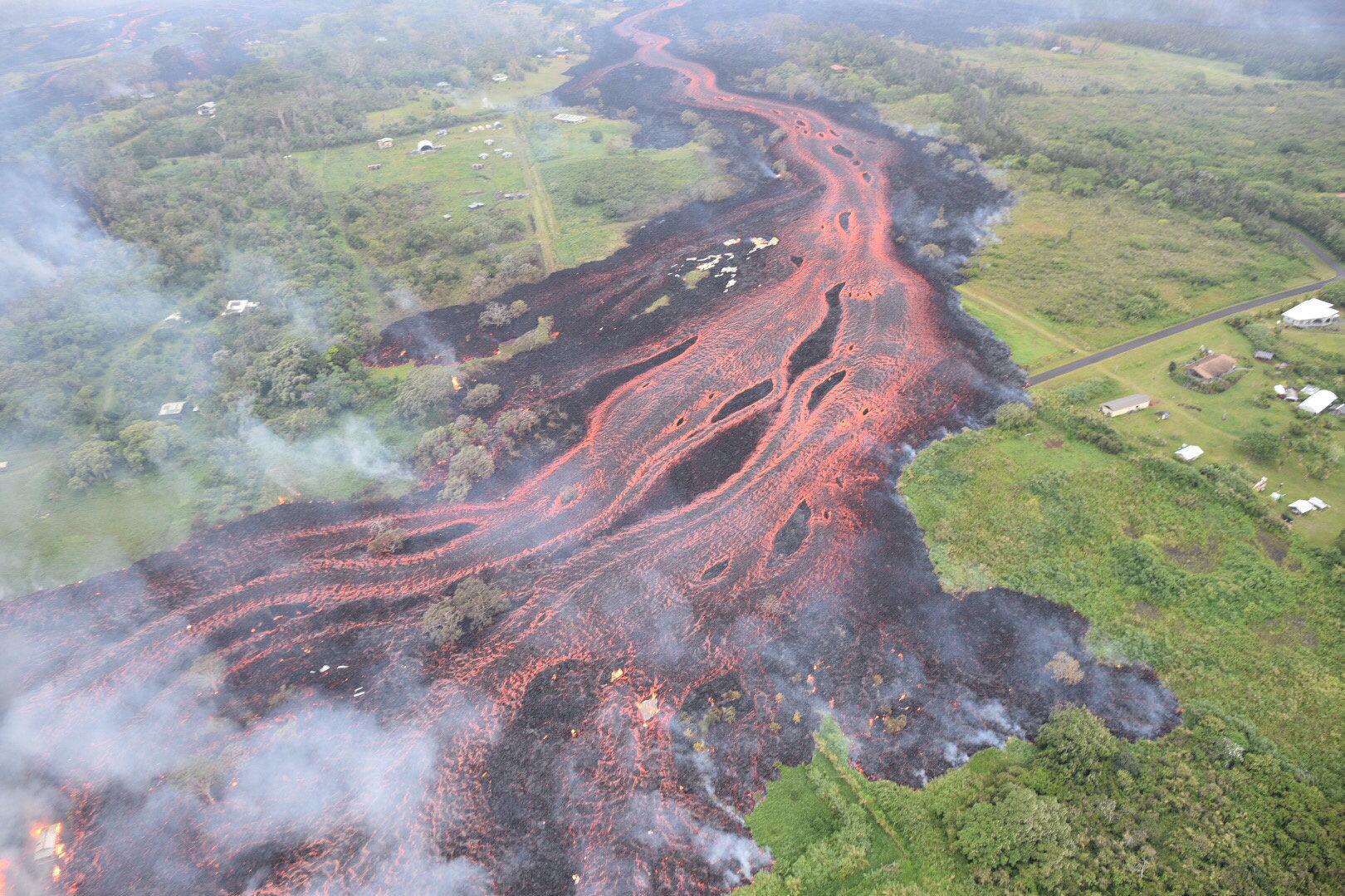 La lave du volcan Kilauea