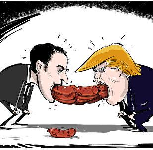 Les saucisses de Trump et Macron
