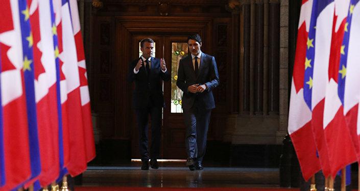 Macron et Trudeau