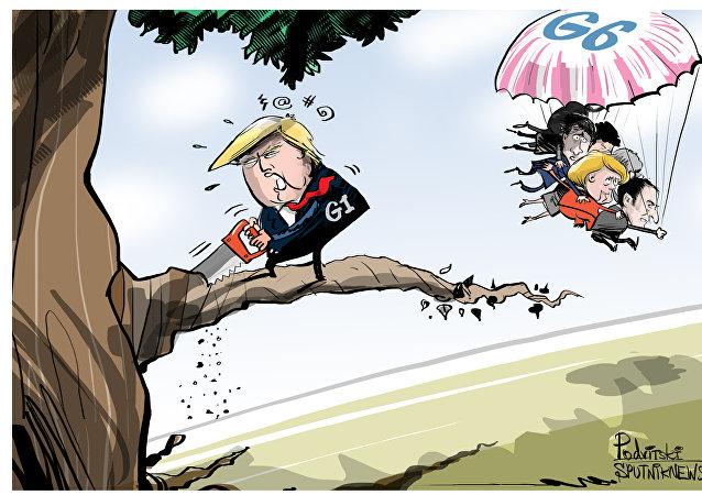 G7: la signature de la déclaration commune à six