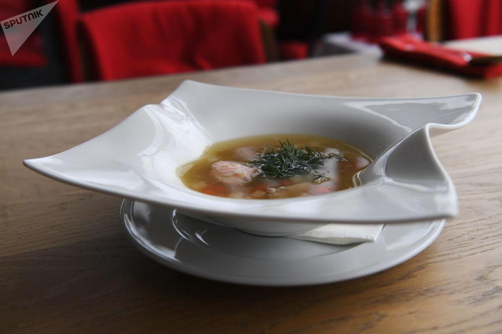 Soupe de poisson du restaurant Voronej à Moscou