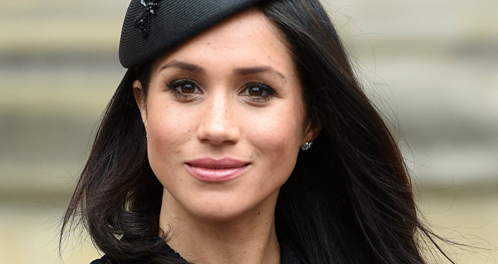 Meghan Markle, the fiancee of Britain's Prince Harry, attends a Service of Thanksgiving and Commemoration on ANZAC Day at Westminster Abbey in London