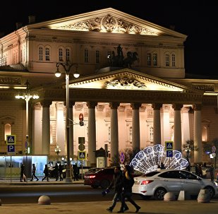 Le théâtre Bolchoï à Moscou