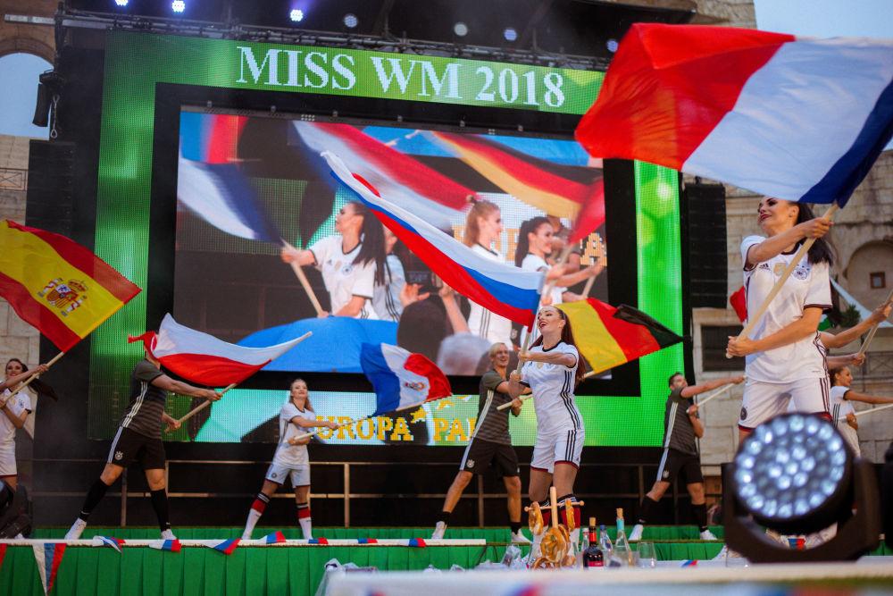 Les participantes à l'édition 2018 du concours de beauté Miss Mondial qui a eu lieu en Allemagne.