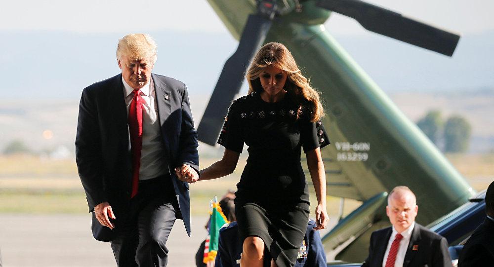 Donald Trump et son épouse Melania