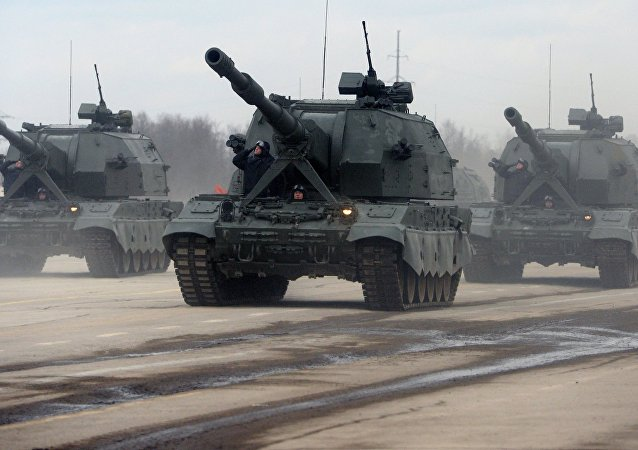 Des obusiers automoteurs russes Koalitsia SV