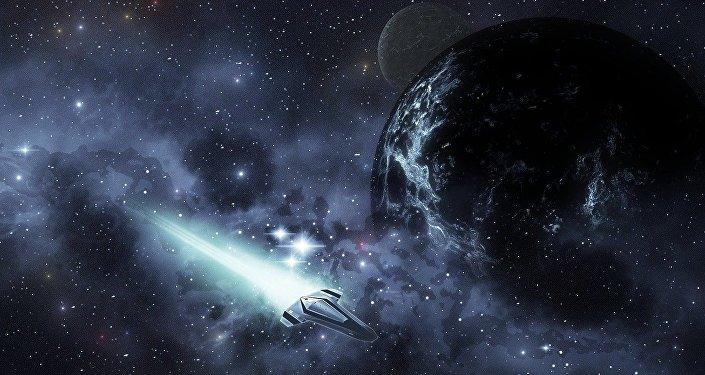 Un navire spatial