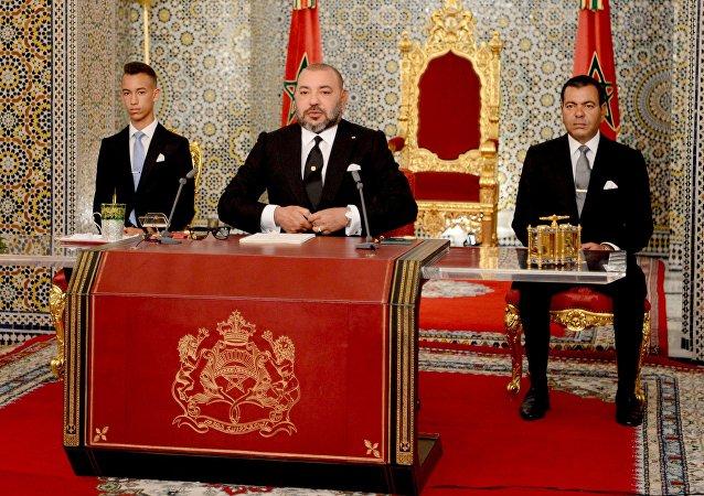 Le Roi du Maroc, Mohamed VI. Photo d'archive