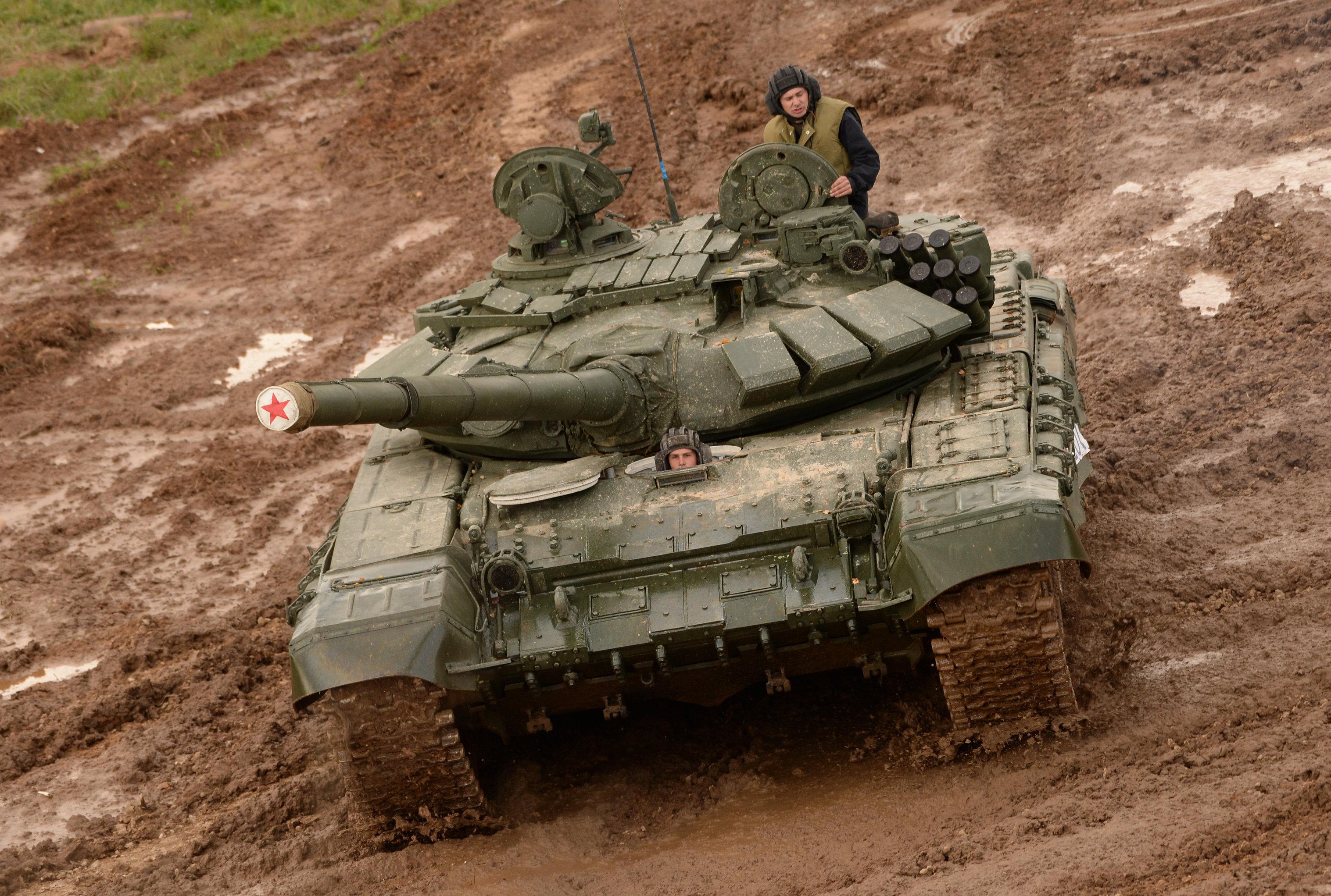 Un T-72 lors du forum militaire Army-2016