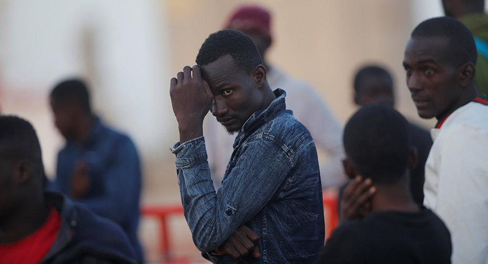 Migrants en Espagne. Photo d'archive