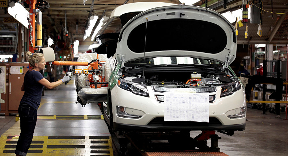 Une usine de General Motors à Detroit