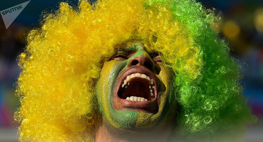 un fan brésilien