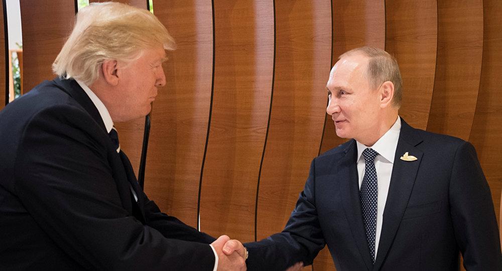 Donald Trump et Vladimir Poutine pendant le sommet du G20 à Hambourg
