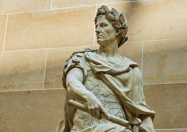 Une sculpture de Jules César
