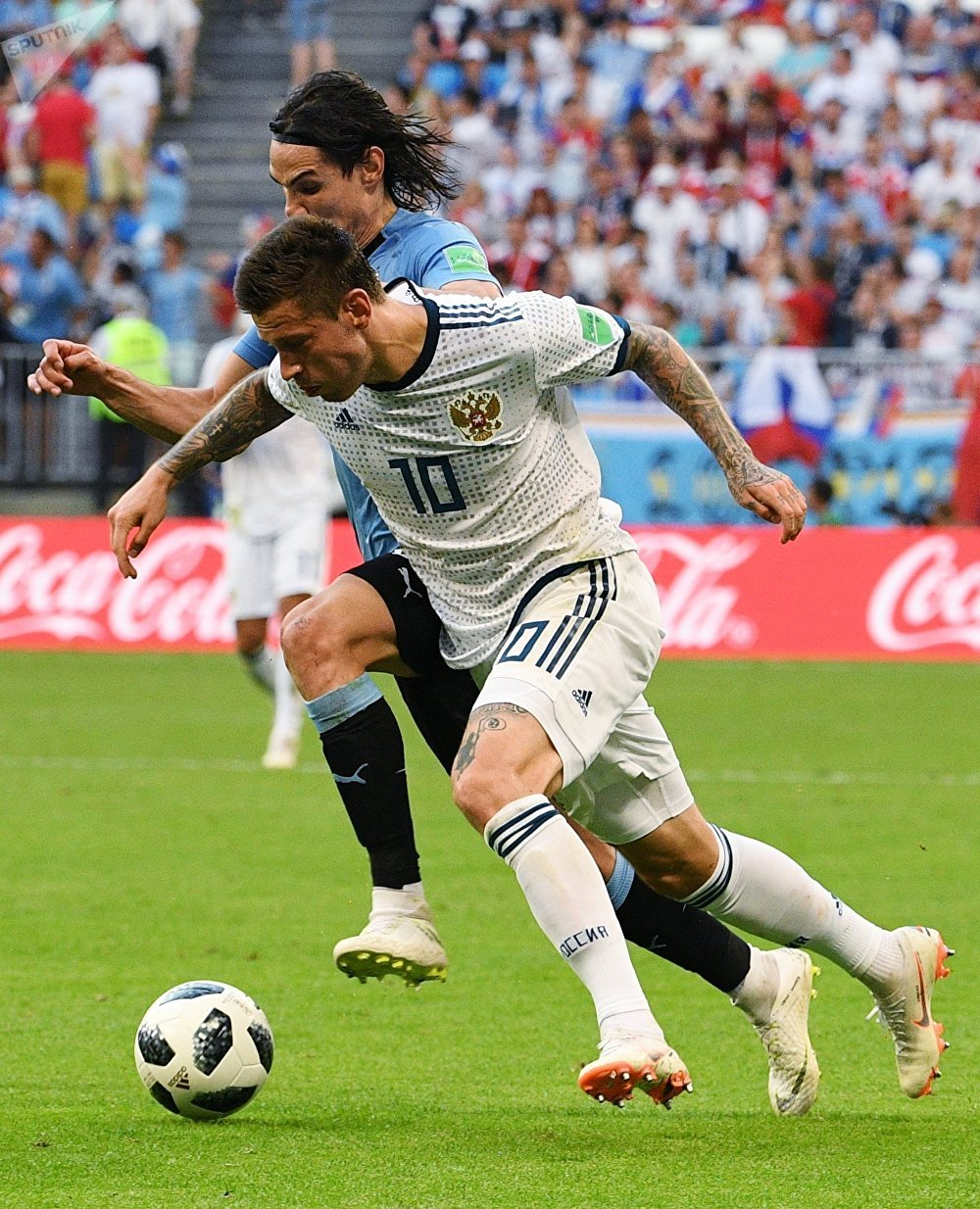 Match Russie-Uruguay