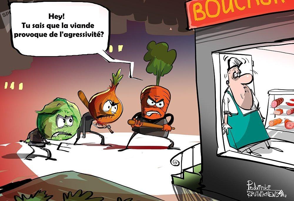 En France, les bouchers ont demandé une protection contre les végétaliens
