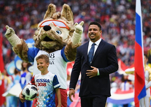 Ronaldo lors de la cérémonie d'ouverture du Mondial 2018