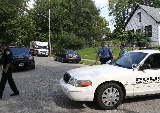 Police au Kansas. Photo d'archive