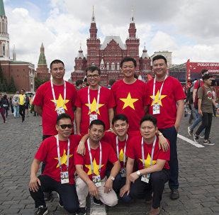 Supporters vietnamiens à Moscou