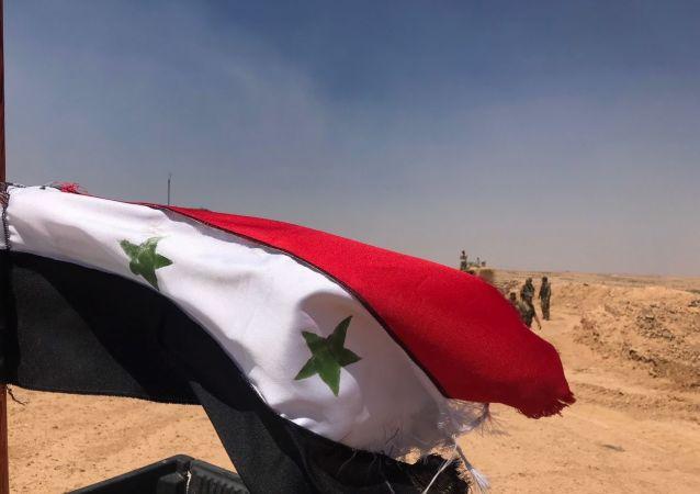 L'armée syrienne à la frontière jordanienne
