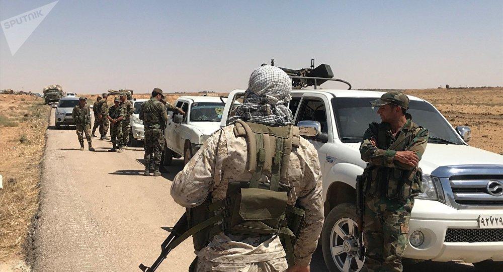 Armée syrienne à la frontière avec la Jordanie, archives