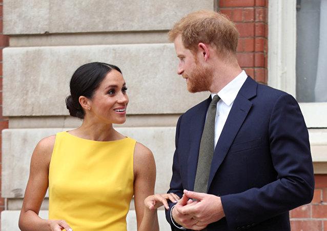 Le prince Harry et son épouse Meghan