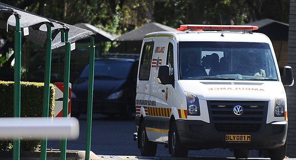 Ambulance en Afrique du Sud. Photo d'archive