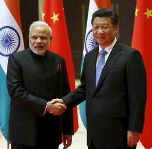 Narendra Modi et Xi Jinping. Photo d'archive