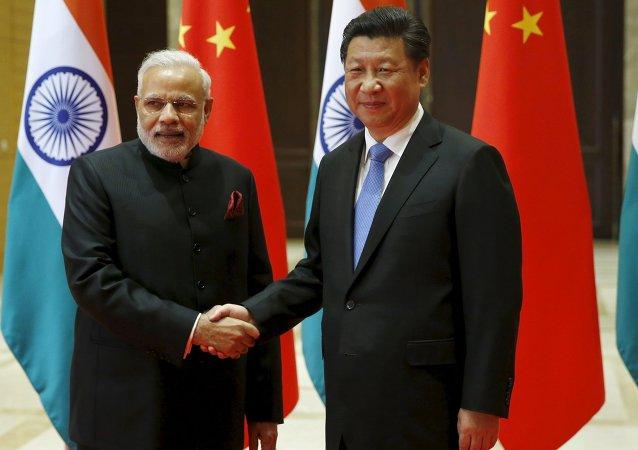 Narendra Modi et Xi Jinping. Photo d'archive