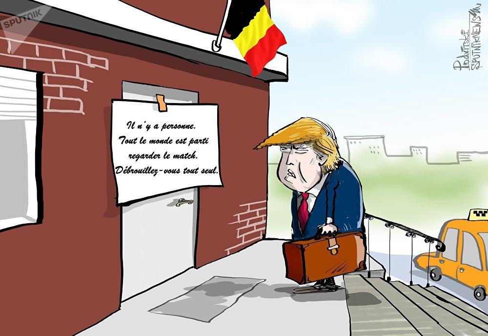Entre Trump et le foot, les autorités belges ont préféré… les Diables rouges