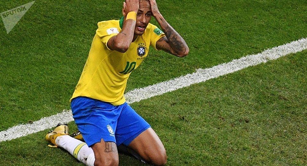 Neymar lors du Mondial 2018