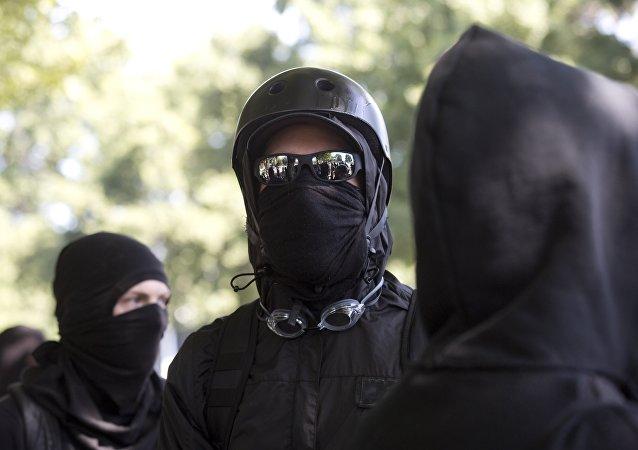 Des «Antifas» encagoulés. Photo d'archive