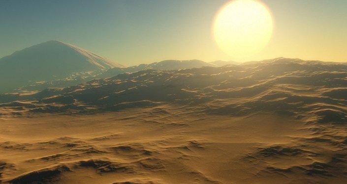 Une planète extraterrestre