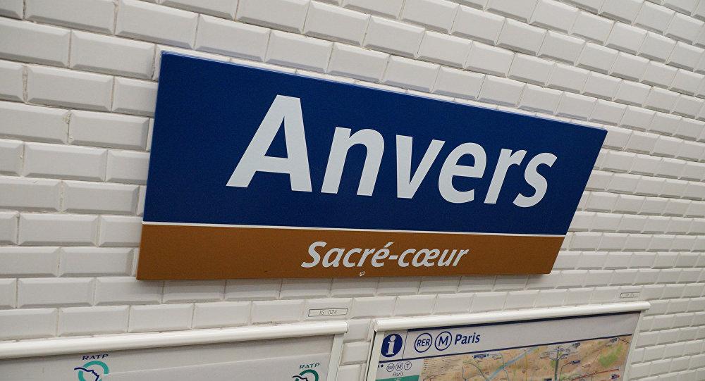 Station de métro Anvers à Paris