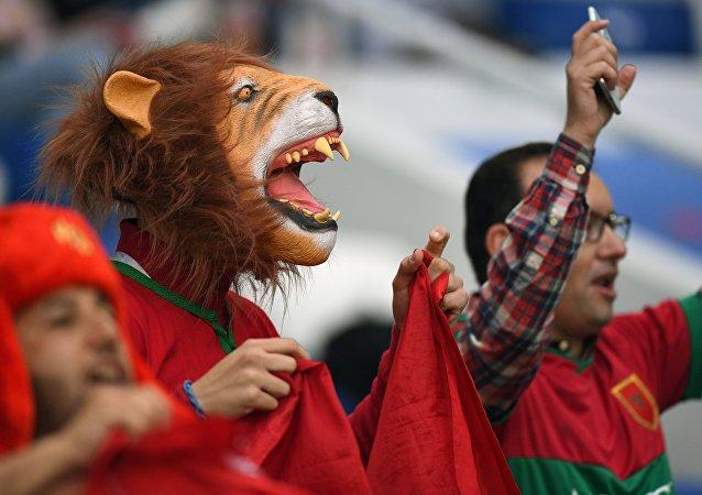 Les supporters du Maroc avant le match Espagne-Maroc de la phase de groupe du Mondial 2018
