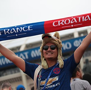 Un fan de foot avant le match France-Croatie