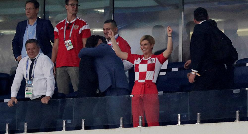 Kolinda Grabar-Kitarovic lors du Mondial 2018