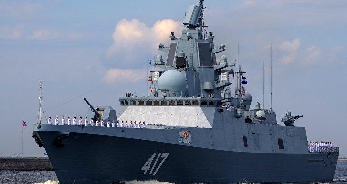 Frégate russe Admiral Gorchkov.