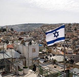 Drapeau d'Israël à Jérusalem