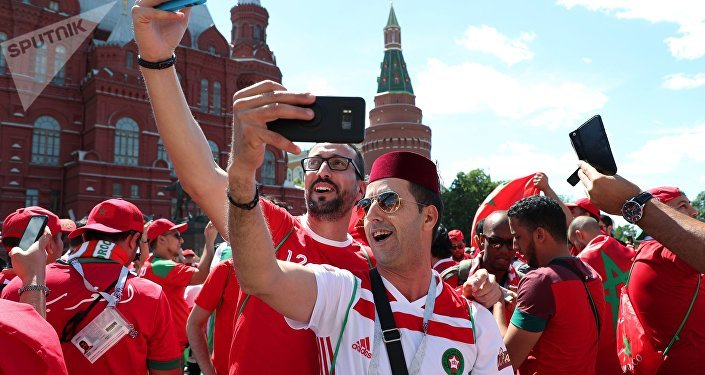 Supporters marocains à Moscou