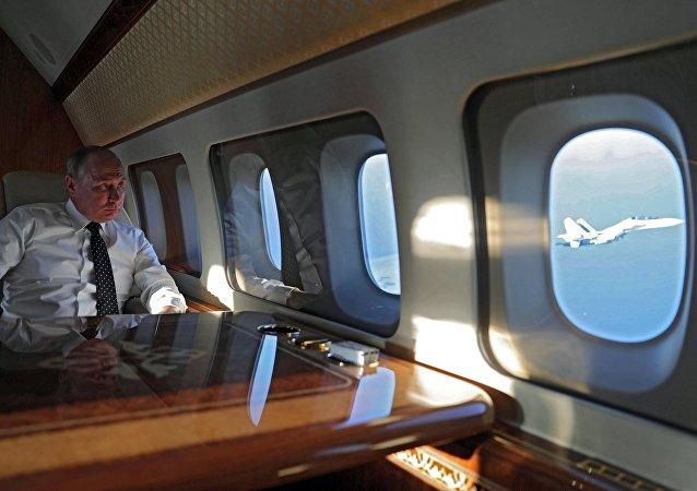 Vladimir Poutine dans son avion