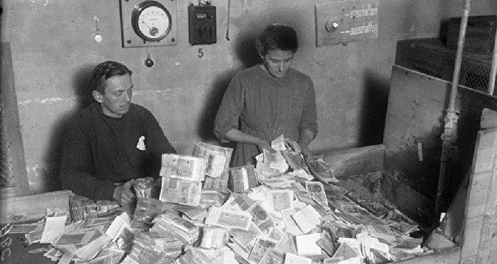 Un tat de billets de banque, République de Weimar en 1923, Allemagne