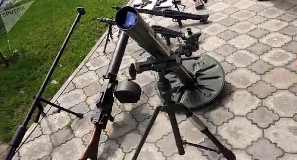 Les armes saisies lors de l'opération du FSB
